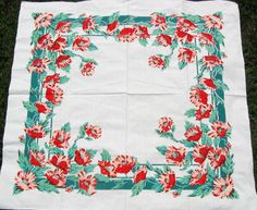 My sewing room inspiration comes from vintage 40s era tablecloths, which I adore and collect