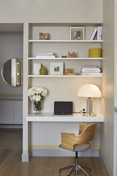home office space ideas - home office space ; home office space in bedroom ; home office space living room ; home office space design ; home office space layout ; home office space ideas ; home office space for 2 ; home office space in bedroom guest rooms Modern Home Offices, Modern Office Decor, Home Office Desks, Home Office Furniture, Office Ideas, Office Designs, Office Workspace, Office Shelf, Office Nook