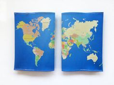 World Map Passport Cover  Passport case with a print of by efratul