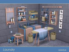 Laundry set by soloriya at TSR • Sims 4 Updates
