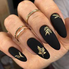 Goth Nails, Edgy Nails, Chic Nails, Classy Nails, Stylish Nails, Trendy Nails, Swag Nails, Black Nail Designs, Nail Art Designs