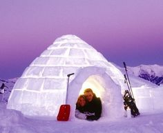 Iglu-Dorf is a concept hotel, seven stores in Andorra, Switzerland and Austria. Every year to rebuild, and available out three thousand tons of snow from the Pyrenees and the Alps.
