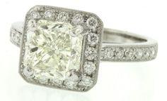 18k white gold 3.60ct VVS diamond wedding engagement ring