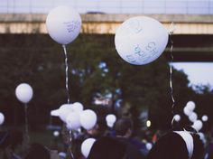 Out of The Darkness Walk #2013 #balloons #sawyerpoint #cincinnati