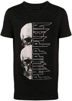 Designs Discover Philipp Plein Skull Logo Print T-shirt - Farfetch Philipp Plein skull logo print T-shirt - White Shirt Print Design, Tee Shirt Designs, Camisa Nike, Phillips Plein, Skull Logo, Skull Print, Design Logo, Quality T Shirts, Dad To Be Shirts