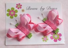 >>>Pandora Jewelry OFF! >>>Visit>> Bows by Dana - she makes the cutest bows EVER. Great ideas to make (or just buy them for cheap! Crafts For Girls, Baby Crafts, Diy And Crafts, Ribbon Art, Ribbon Crafts, Ribbon Flower, Ribbon Hair Bows, Diy Hair Bows, Hair Bow Tutorial
