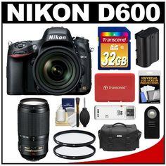 Review Cheap Nikon D600 Digital SLR Camera & 24-85mm VR AF-S Zoom Lens with Nikon 70-300mm VR AF-S Lens + 32GB Card + Case + Battery + Filters + Remote + Accessory Kit