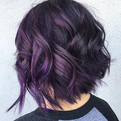 Who says you have to go with a #brunette #balayage for #fall and #winter? Add a bit of spunk to your #style with waves of purple. featured #hair artist @studio417ashlee .