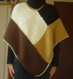 Devant poncho tricotin