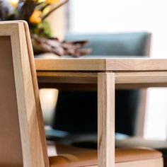 //Clean and sleek design, decisive lines and exquisite craftsmanship create the table. Timber Dining Table, Tables, Chair, Create, Wood, Furniture, Design, Home Decor, Mesas