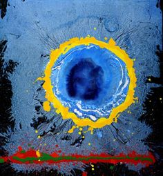 Moon's Milk 2009 John Hoyland Abstract Sculpture, Sculpture Art, Abstract Art, Light Painting, Painting & Drawing, Action Painting, Post Painterly Abstraction, Modern Art, Contemporary Art