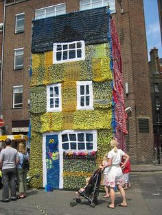 Knitted house For you @1funkyknitwit ;) THE CRAZY KNITTING LADY HAS STRUCK AGAIN.