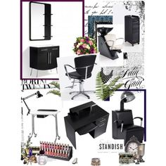 Modern and Elegant Salon. Standish Salon Goods www.stand.sh  Featured items:   Miami Causeway Station, Veronica Styling Chair, Veronica Shampoo Unit, Beatrix Reception Desk, Maude Nail Table, Rhiannon Nail Display, Maurine the Drying Machine, Chester the Trolley