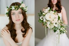 Natural Beauty Wedding Inspiration Shoot from AMBphoto with Satin  Snowflakes
