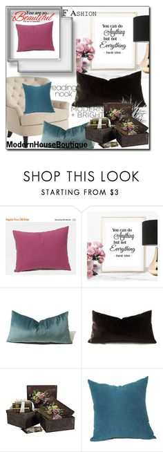 """Modern House Boutique 51"" by sabinn ❤ liked on Polyvore featuring interior, interiors, interior design, home, home decor, interior decorating, Pier 1 Imports, CO, Nook and modern"