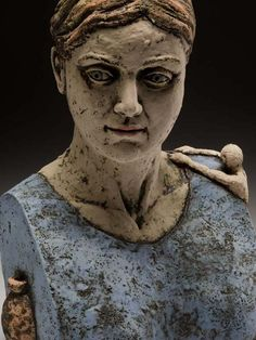 David Robinson: title unknown [woman in an apron]. Sculpture, Medium: unknown. MudFire Gallery.