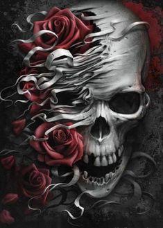 Ideas Drawing Skull Sketches Bones For 2019 Genos Wallpaper, Skull Wallpaper, Skull Tattoo Design, Skull Design, Tattoo Sketches, Tattoo Drawings, Tattoo Art, Sugar Skull Artwork, Vrod Harley
