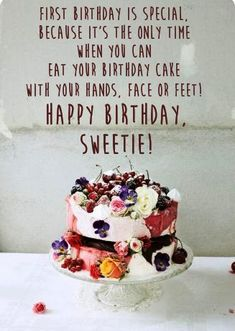 Happy Birthday Wishes: TOP 70 Short & Meaningful Meaningful Birthday Wishes, Short Birthday Wishes, Birthday Greetings Images, First Birthdays, Birthday Cake, Desserts, Top, Tailgate Desserts, One Year Birthday