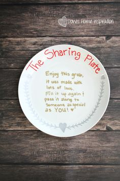 This DIY Sharing Plate is a great way to spread the love this season. It's always so much fun to remind your friends & family that you are thinking of them.