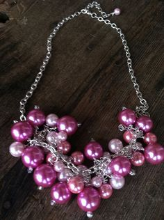 Chunky Pearl Cluster Necklace