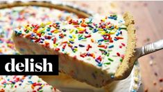 Sprinkles make everyone happy. DIRECTIONS 1. In a large bowl using an electric hand mixer, whip heavy cream until soft peaks form. 2. Add softened cream chee...