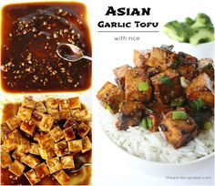 The Garden Grazer: Asian Garlic Tofu with Rice