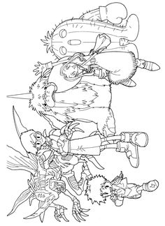 Free Digimon Coloring Page Pages 92 Printable