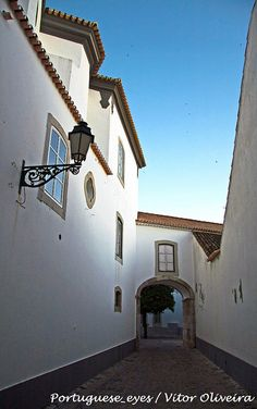 A little alleyway I remember from my trip to Faro, Portugal