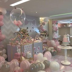 18th Birthday Party, Cat Birthday, Birthday Party Decorations, Kitten Party, Cat Party, Decoracion Baby Shower Niña, Baby Shower Parties, Holidays And Events, Balloons