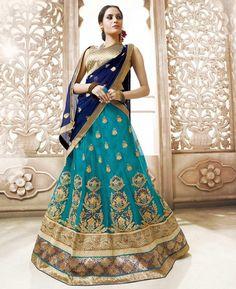 Buy Good Looking Blue Lehenga Choli online at  https://www.a1designerwear.com/good-looking-blue-lehenga-choli-4  Price: $44.68 USD