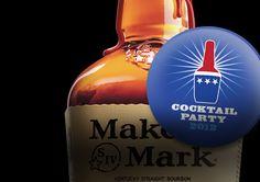 Maker's Mark Supports the Cocktail Party.  Maker's Mark®   Maker's Mark Kentucky Straight Bourbon Handmade Whisky