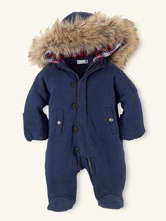 Hooded Snorkle Bunting - Outerwear Layette Boy (Newborn–9M) - RalphLauren.com