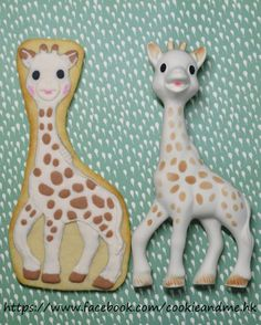 Sophie the Giraffe cookies