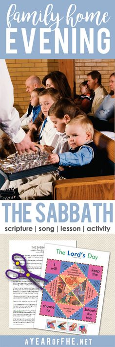 A Year of FHE // a Family Home Evening for young kids about the importance of making the Sabbath day a special day. Includes a song, scripture, lesson and activity. #lds #fhe #sabbath #hisday