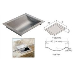 """CRL Standard 8"""" Wide X 10"""" Deep X 1-9/16"""" High Brushed Stainless Finish Drop-In Deal Tray by C.R. Laurence. $106.28. Flush Drop In Design Ideal for Cash and Coins Polished or Brushed Stainless Steel Finishes The CRL Standard Drop In Deal Trays are made of a heavy gauge stainless steel with a choice of a bright polished or brushed finish designed to withstand years of exposure while resisting nicks and scratches. The dish section measures 1-1/2 inch (38 millimete..."""