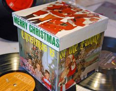 Creative Upcycling and Mixed Media: Making a Gift Box Out of Vintage Holiday Album Covers