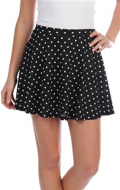 Deb Shops polka dot skirt