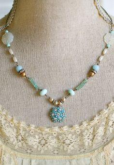 Maria. romantic,vintage rhinestone ,beaded,drop neck;lace. Tiedupmemories