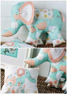 DIY Baby Onesie Memory Elephant Keepsake Elephant Tutorial Free Pattern