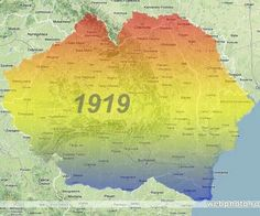 Romania in 1919 Romanian Flag, Romania Map, Historical Maps, History Facts, My Images, Humor, Semper Fidelis, Design Case, Albania
