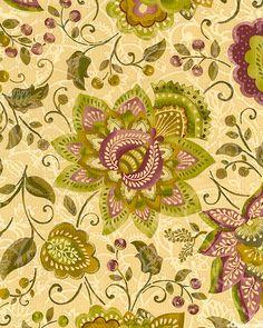 Persia - Enchanted Floral - Burnt Vanilla/Gold