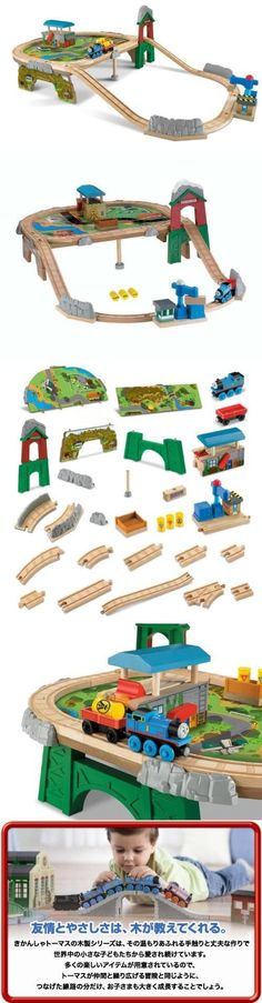 Thomas Wooden Railway - Mountaintop Supply Run Set, This deluxe playset brings a new level of exciting play to Thomas' Wooden Railway! The new track layout features increased height, loading/unloading cargo play and 2 locations, the docks and the mount..., #Toys, #Train Sets