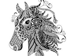 Zentangle Faith Print Pen and Ink Drawing by AimeesShoppe on Etsy