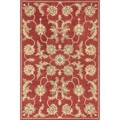 Hand-tufted Wilson Red Wool Rug   Overstock.com Shopping - Great Deals on Alexander Home 5x8 - 6x9 Rugs