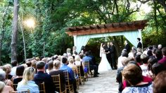 The pergola for my wedding at The Wildwood Inn