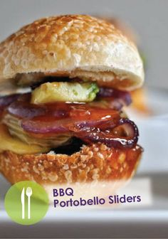 Put an exciting twist on sliders with this BBQ Portobello Sliders recipe – Great appetizer for watching the game!
