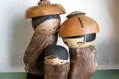 Husband and wife team Lisa and Jacob Hodsdon combine their artistic talents as they craft modern interpretations of the traditional Japanese Kokeshi doll. The dolls, believed to bring prosperity and joy and a sense of safety to the household, are each signed, one-of-a-kind pieces of art.