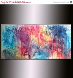 Large Abstract Painting Original Abstract by newwaveartgallery, $304.00