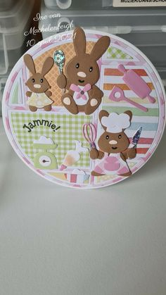 Marianne Design Cards, Paper Cards, Layout, Cardmaking, Decorative Plates, Bunny, Tableware, Inspiration, Cupcake
