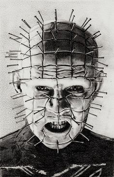 'hellraiser' by Samantha Norbury. A pencil drawing of Hellraiser played by actor Doug Bradlty. As of it's had 1904 views & has been favorited by 16 people. Horror Movie Characters, Horror Movie Posters, Arte Horror, Horror Art, Films Cinema, Horror Monsters, Horror Icons, Desenho Tattoo, Classic Horror Movies